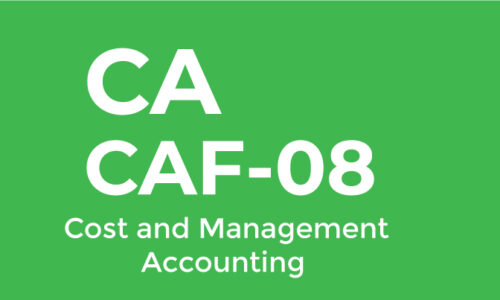 CA CAF-8 Cost and Management Accounting Sir Zohaib
